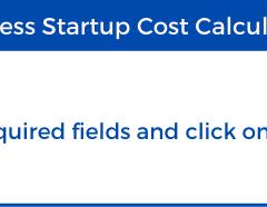 Business Startup Cost Calculator