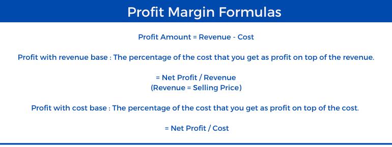 Profit Margin Calculator - Formula